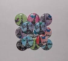 "20 Paris Eiffel 1"" flat back Buttons."