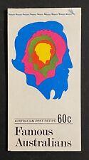 StampTLC Australia 456a 2 Famous Australians 6c Entire Booklet November 16 1970