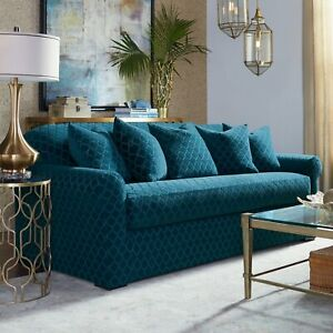 Sure fit slipcover Stretch Grand Marrakesh SOFA  teal blue peacock washable b