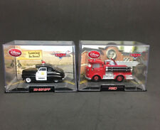 DISNEY Pixar Diecast Cars RED FIRETRUCK & SHERIFF in Original Collectible Case