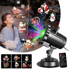 3D NAVIDAD LUZ LED Movibles Proyector Láser Paisaje Papá Noel estampado Lámpara