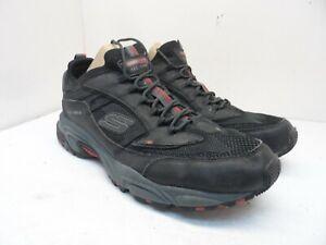 Skechers Men's Stamina Berendo Athletic Casual Sneakers Black/Red Size 13W