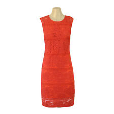NEW Ladies Size 16 Lava Orange RED Lace Spring Races After 5 Party Dress~JENDI