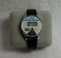 Vintage BRADLEY QUARTZ STAR WARS Darth Vader Digital Watch 1980s WORKING!