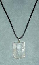 Authentic $500 LALIQUE ENFANTS Sterling Silver Crystal Pendant Necklace + Pouch