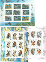 RUSSIA. SOVIET UNION 3 MINI SHEETS MNH** BIRDS
