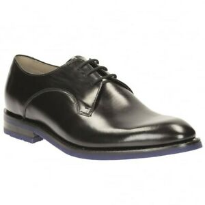 Mens Clarks Formal Lace Up Shoes 'Swinley Lace' Black Leather Size UK 10 G