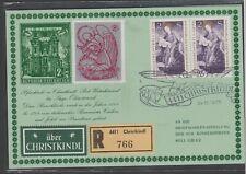 1975: ,Reco-Christkindl Brief mit Leitzettel + Vignette v. 24.12.1975(s.Foto)