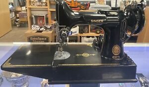 Vintage 1953 Singer Featherweight 221-1 Portable Electric Sewing Machine