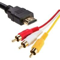 5Ft HDMI Male to 3 RCA Video Audio Converter Component Cable AV X2T2 Adapte R8R3