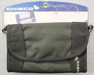 CHISCO Freestyle Black Small Compact 6 Pocket - Wallet  Purse -Travel Hiking NWT