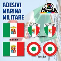 KIT Adesivi Stickers AUTOCOLLANT BANDIERE ITALIA MARINA MILITARE ITALIANA