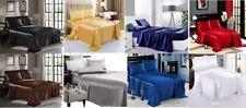 Satin Sheet Set Bedsheet Set 4 Pc Bed Linen Flat Sheet,Fitted Sheet,Pillowcovers