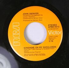 Country 45 John Denver - Sunshine On My Shoulders / Around And Around On Rca Vic