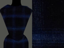 (12,60 €/m) 50cm STOFF Mantelstoff Wollmischung, kariert dunkelblau schwarz