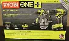 RYOBI P1816 18-Volt ONE+ Cordless 2-Tool Combo Kit w/ Drill/Driver, Circular Saw