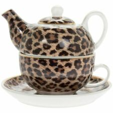 Wildside Leopard Print Tea for One - Teapot, Cup and Saucer Set