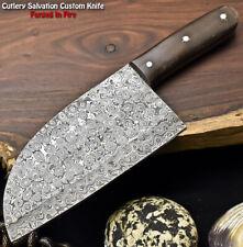 Hand Made Damascus Steel Blade Chopper Full Tang Knife | Micarta
