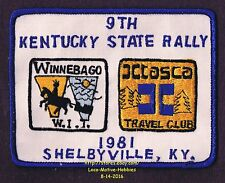 LMH Patch 1981 WINNEBAGO TRAVELERS Club RV Motorhome WIT W.I.T. Itasca KY RALLY