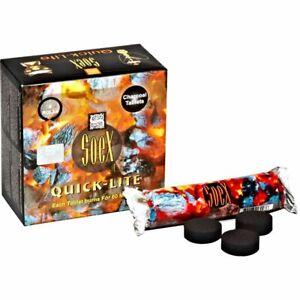 Soex Quick lite Box of 80 Charcoal Tablets Bulk Lot