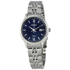 Seiko Classic Blue Dial Ladies Stainless Steel Watch SUR709P1