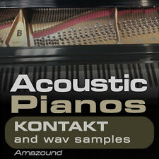 40 ACOUSTIC PIANOS for KONTAKT NKI INSTRUMENTS + 1100 WAV SAMPLES MAC PC