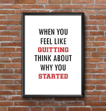 INSPIRATIONAL MOTIVATIONAL GYM POSITIVE QUOTE PRINT POSTER A4 WORKOUT