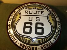 . Vintage Route 66 Light Up Tin Button Large Sign