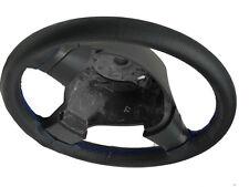Adatto a Fiat Panda MK1 traforata nero in pelle Volante Copertura Cuciture Blu