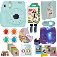 Fujifilm Instax Mini 9 Instant Camera Ice Blue + 20 Sheet Film + Case And More