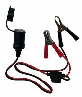 Tetra-Teknica Alligator Battery Clamp to Cigarette Lighter Female Extension Cord