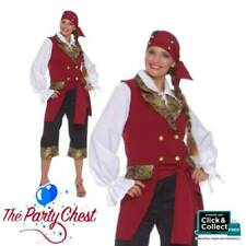 DELUXE PIRATE LADY COSTUME Adult Pirate Captain Complete Fancy Dress Outfit 3153