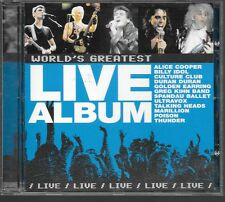 CD COMPIL 12 TITRES--LIVE ALBUM WORLD'S GREATEST--COOPER/IDOL/ULTRAVOX/MARILLION