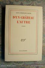 (1745LC.9) D'UN CHATEAU A L'AUTRE 1957 LOUIS FERDINAND CELINE - EO - 2ME EDITION