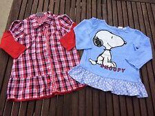 H&M Snoopy Tunika & Topolino Blusenkleid Gr. 86