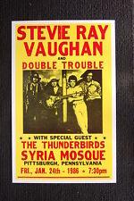Stevie Ray Vaughn 1986 tour poster The Thunderbirds