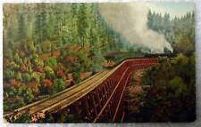 POSTCARD RAILROAD TRAIN DOLLARHIDE TRESTLE SHASTA ROUTE SOUTHERN PACIFIC #2