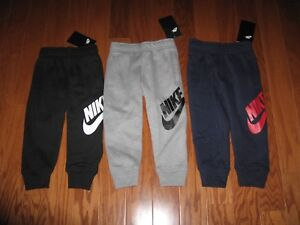 NIKE BOYS  ATHLETIC JOGGERS WITH SWOOSH SIZE 2T/3T/4T/4/5/6/7 NWT