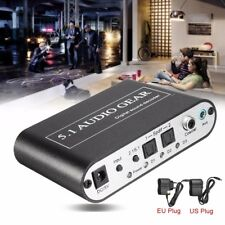 SPDIF/Coaxial/Stereo Digital DTS/AC3 to analog 5.1 Audio Sound Decoder Converter