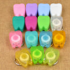 10 PCS Dental Floss Keychain Mini Oral Health Hygiene Key Ring Portable