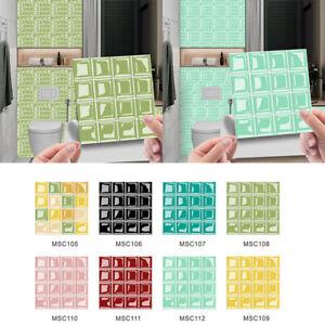 10pcs Kitchen Tile Sticker Mosaic Sticker Self-adhesive Bathroom Wall Home Decor