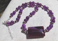 Purple Dragons Vein Agate Necklace