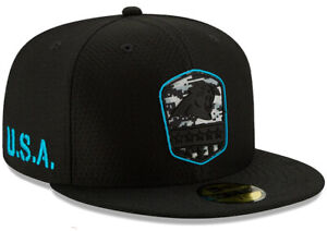CAROLINA PANTHERS SALUTE TO SERVICE NEW ERA HAT 59FIFTY FITTED FOOTBALL NFL CAP