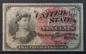 USA Fr 1259 10 Cents 4th Issued 1869-75 VF Rare