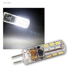 5 x LED-Leuchtmittel G4, 24 SMD LEDs 110lm kaltweiß Stiftsockel-Lampe 12V Birne