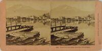 Suisse Lucerna Vista Del Wharf Lac Dei Quatre Cantoni, Foto - Vintage Albumina