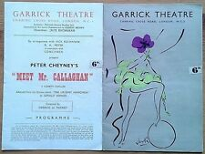 Selection of individual Garrick Theatre programmes 1950s, West End programme