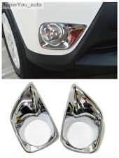 ABS Chrome Front Fog Light Lamp Cover Trim For Toyota RAV4 2013-2015