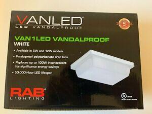 RAB Lighting Vanled - Van1led Vandalproof white LED light fixture New in Box
