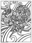 """NEW Heart Art Print Coloring Poster 18x24 inch 24""""x 18"""""""